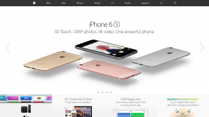 Apple hemsida